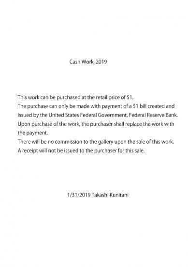 Cash Work 2019